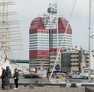 Lilla Bommen (building) - Image: Skanskaskrapan september 2010