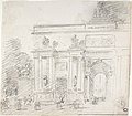 Sketch of Triumphal Arch (recto); Alternate Study for Triumphal Arch (verso) MET DP808076.jpg