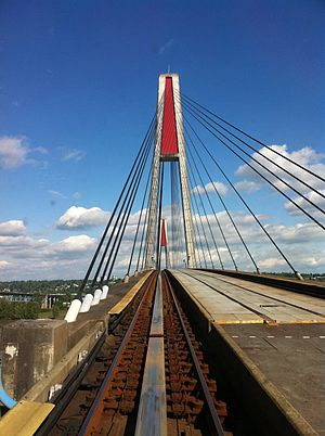 Skybridge (TransLink) - Image: Sky Bridge from Sky Train (5770458210)