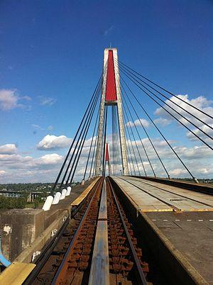 Skybridge (TransLink) - Image: Sky Bridge from Sky Train (5770458210)