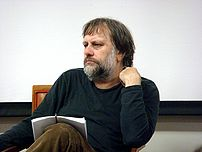 Slovenian philosopher Slavoj Zizek in Liverpool.
