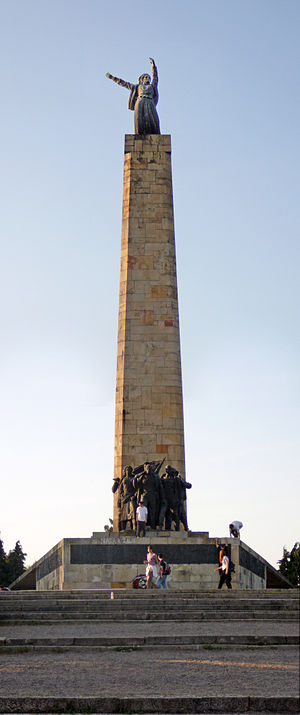 Sreten Stojanović - Image: Sloboda monument