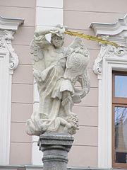 Sloup se sochou Archanděla Michaela