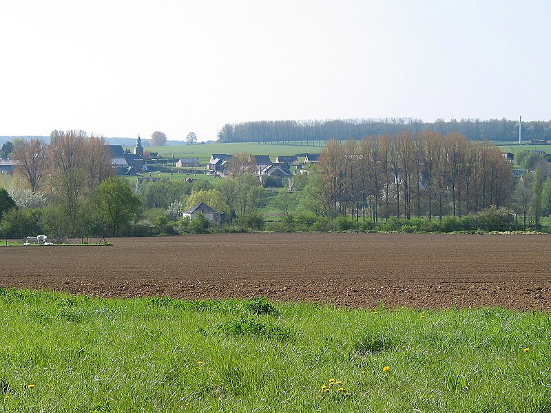 Solre-sur-Sambre (Belgium), the village in the springtime.