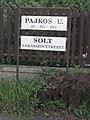 Solt housing cooperative sign, Pajkos street, 2018 Kelenföld.jpg