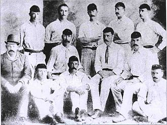 English cricket team in South Africa in 1888–89 - The South African cricket team for the First Test.
