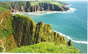 Caldey Island - Image: South Coast of Caldey Island. geograph.org.uk 113045