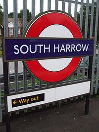 South Harrow stn roundel.JPG