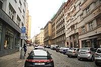 South view of Sázavská street in Vinohrady, Prague.jpg