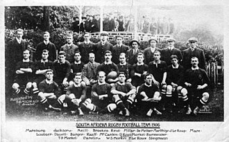 Sport in South Africa - The 1906 Springboks team.