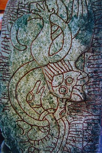 Swedish-Geatish wars - The famous Sparlösa Runestone raised in the Geatish heartland, in Västergötland, mentions a great battle, the names Eric and Alrik and the father who resided in Uppsala. Possibly a memorial to Swedish royalty, who had won a great battle.