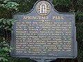 Springvale Park historical marker 02.jpg