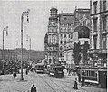 Städtische Straßenbahnen Wien 1903–1913 (page 23 crop) – Haltestelle Friedrichstraße vor der »Sezession«.jpg