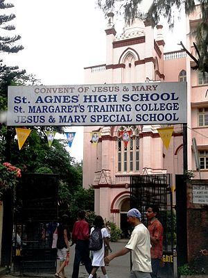 Byculla - The Entrance to St. Agnes High School on Clare road