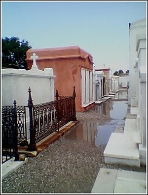 Saint Louis Cemetery - Saint Louis Cemetery No. 1 with newly renovated vaults