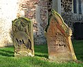 St Andrew's church - crumbling headstones - geograph.org.uk - 1634064.jpg