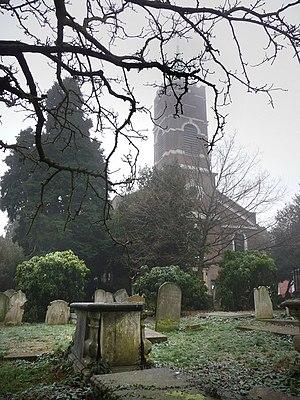 St John-at-Hampstead - Image: St John at Hampstead, churchyard geograph.org.uk 1121581