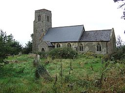 St Lawrence's Church, Ilketshall St Lawrence, Suffolk - from the southeast.jpg