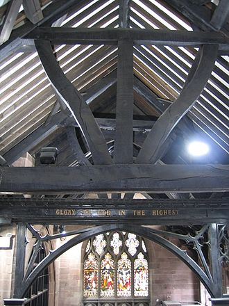 St Michael's Church, Chester - Roof structure