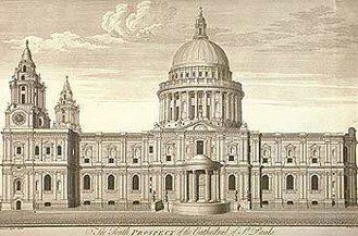 Christopher Wren - Wren's cathedral as built.