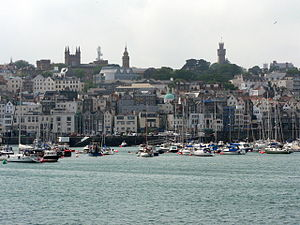 Elizabeth College, Guernsey - The college building is a landmark on the skyline of Saint Peter Port