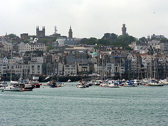 Elizabeth College (Guernsey) - The school remains a landmark on the skyline of Saint Peter Port.