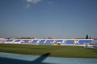 Stadion Gradski vrt - Image: Stadion NK Osijek 2 rujna 2008 1