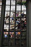 stained glass window nieuwe kerk detail