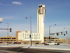 Stapleton, Denver - The old Stapleton Control Tower as seen in 2008
