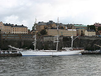 Sail training - Built in 1914 as Grossherzog Friedrich August, a school training ship for the German merchant marine, the since 1921 Norwegian-owned Statsraad Lehmkuhl is one of the oldest sail training ships in service