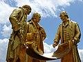 Statue of Boulton, Watt & Murdoch - Birmingham - England - 01 (28227285055).jpg