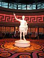 Statue of Caesar in the Caesars Windsor casino in Canada.JPG