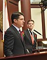 Steve Crisafulli with Andy Gardiner at his side during the opening day session of the Legislature.jpg