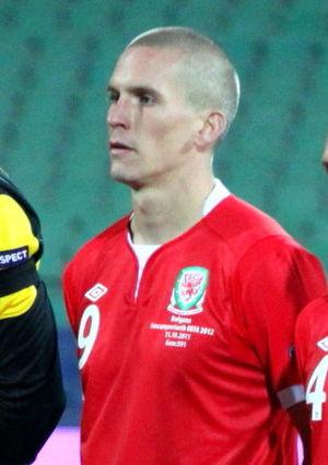 Steve Morison - Morison in Wales colours