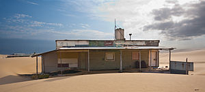 Bobs Farm, New South Wales - Building at Tin City, on Stockton Beach