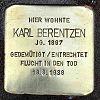 Stolperstein An der Ringmauer 1 Berentzen Karl