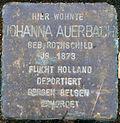 Stolperstein Köln, Johanna Auerbach (Parkstraße 10).jpg