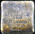 Stumbling block for Max sealing wax (Thieboldsgasse 134)