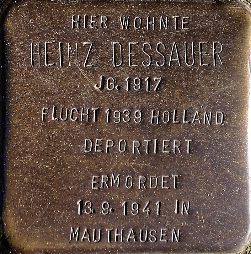 Stolperstein Solingen Klemens-Horn-Str. 6 Heinz Dessauer.jpg