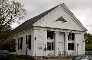Stow, Massachusetts - Image: Stow MA Town Hall