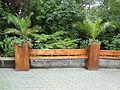 Street bench - Diergaarde Blijdorp - Rotterdam - Natural planks with flower pots.jpg