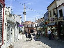 Una via della vecchia Skopje sotto dominazione turca