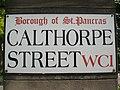 Street sign, Calthorpe Street WC1 - geograph.org.uk - 1386422.jpg