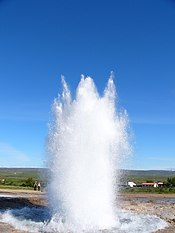 Geyser doubles in size.