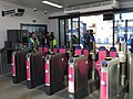 Strood station (2017) ticket hall barriers 7572.JPG