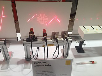 Structured light - Structured light sources on display at the 2014 Machine Vision Show in Boston