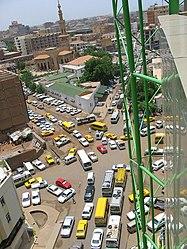 Blick auf den Verkehr in der Innenstadt Khartums