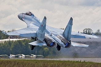 Sukhoi Su-35 - An Su-35S during take-off