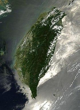 Image satellite de Taïwan.