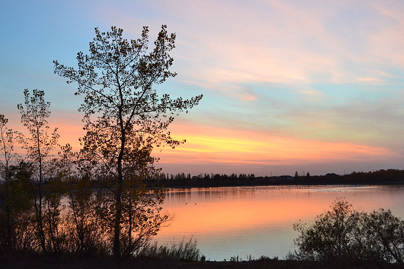 Sunset at FortWhyte.JPG